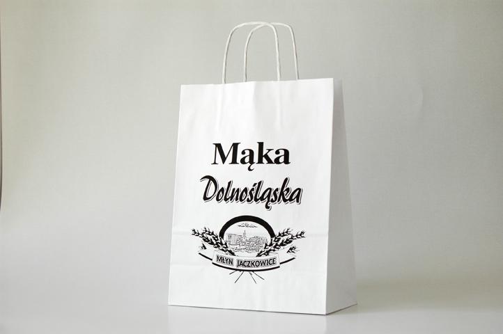 183b041666c95 Torba papierowa biała - Mąka Dolnośląska